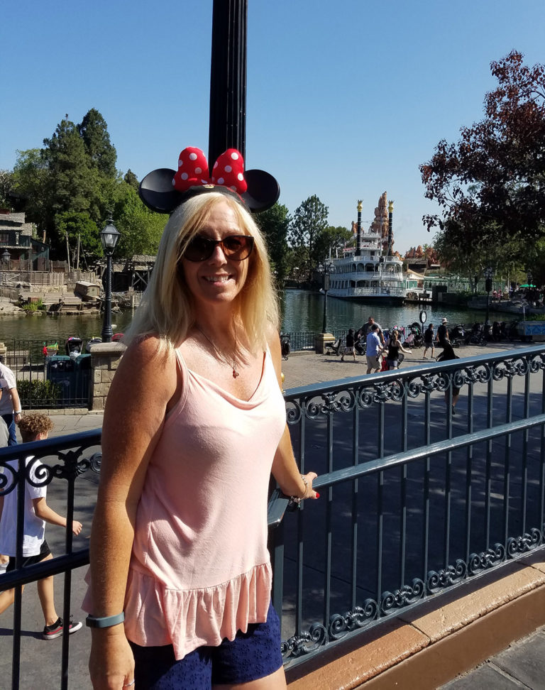 Donna at Disneyland in 2018