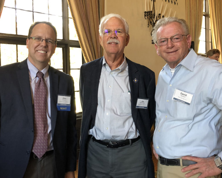 Alex Brown of BFBA, Jay Boatwright of Sequoia Pacific Builders, and David Sexton of River City Glass