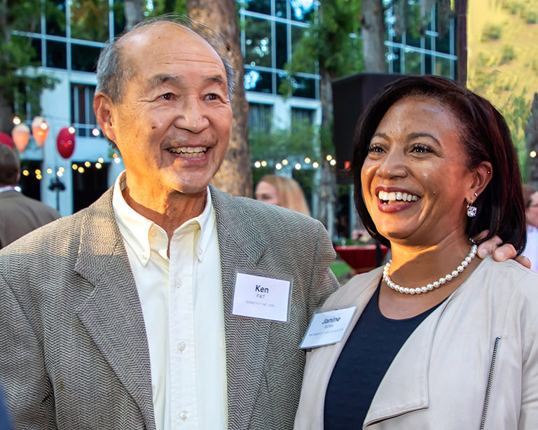 Photo of Dr. Ken Fat with Dr. Janine Bera