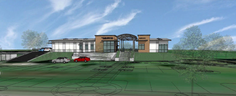 Architectural rendering of South Sutter Charter Resource Center