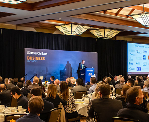 Crowd photo of RCB Business Outlook Event